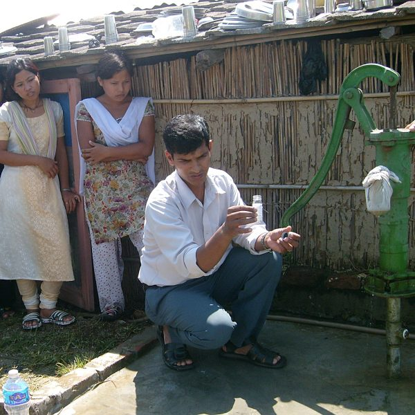 testing water from pump